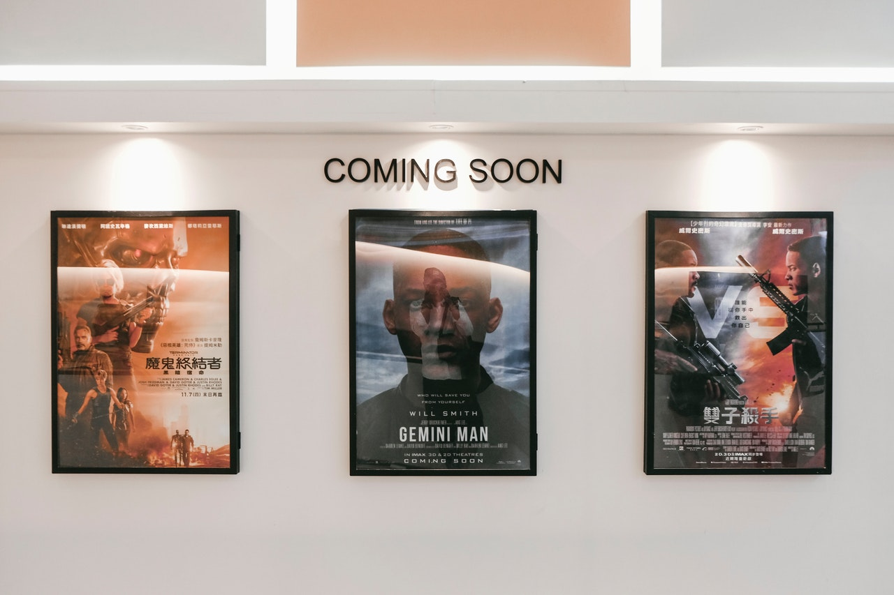 posters for movie adaptations of book